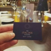 Gift Card at the Italian kitchen
