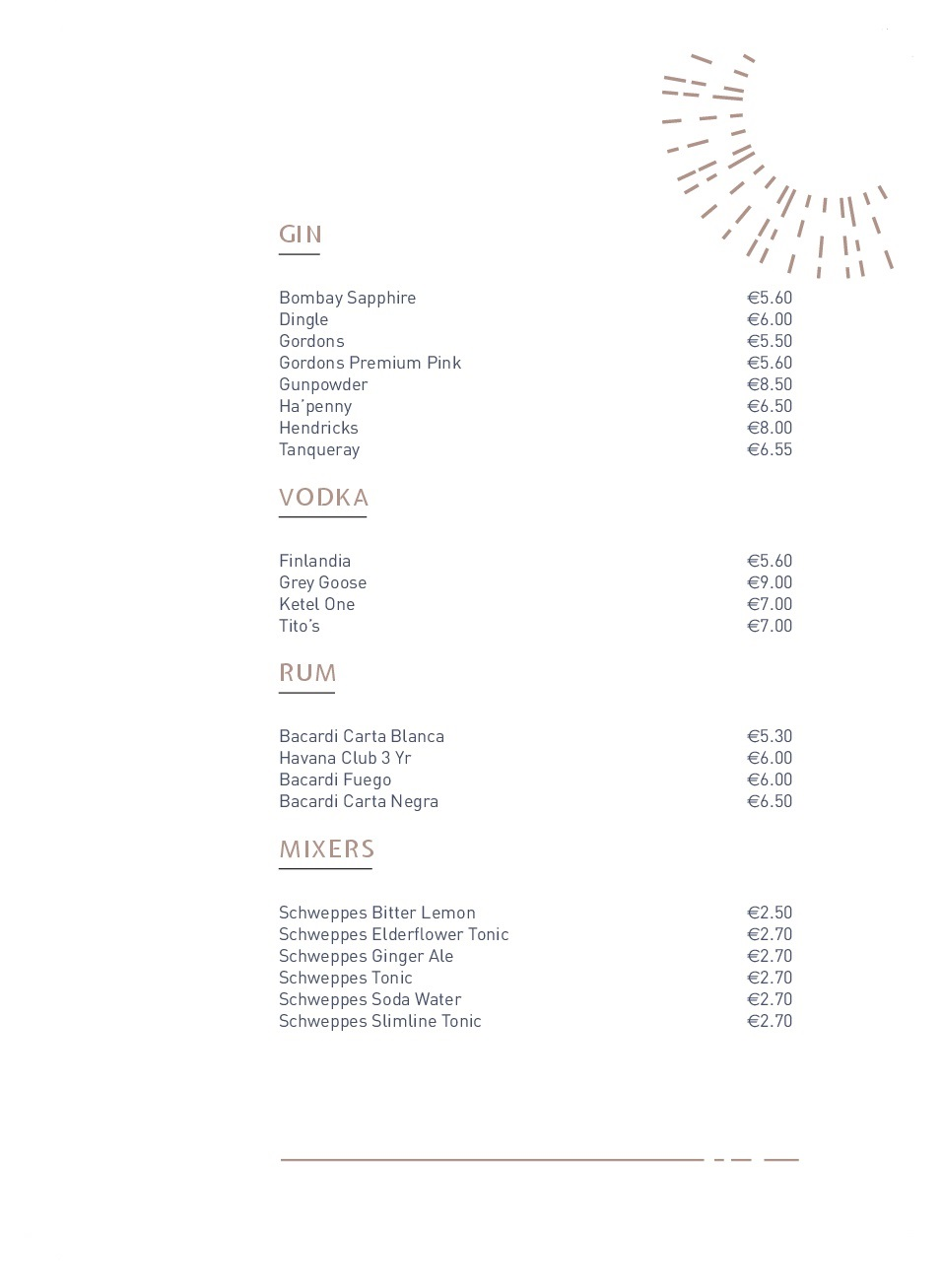 Drinks menu pg 3