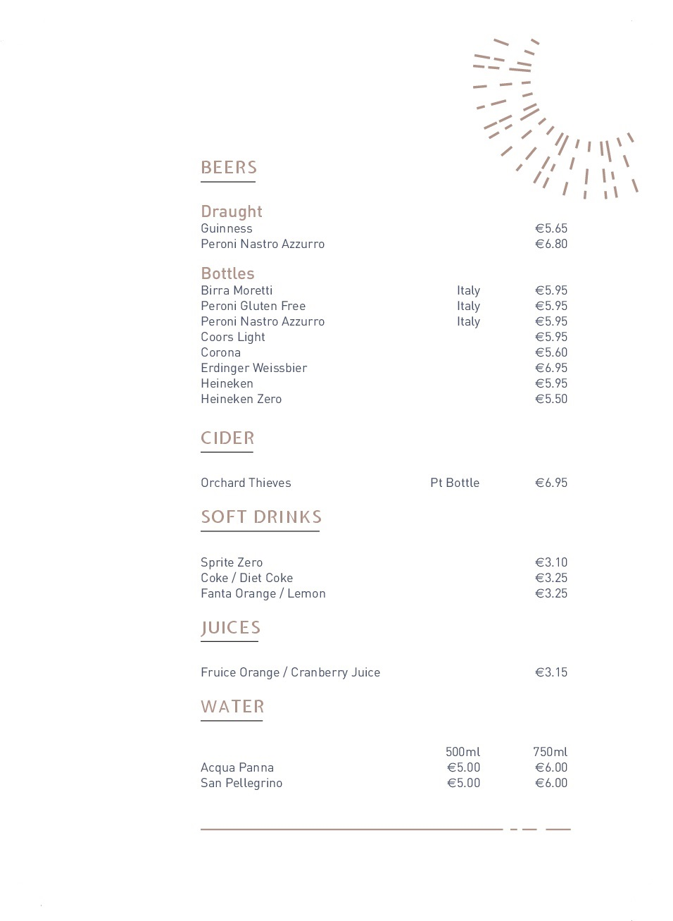 Drinks menu pg6