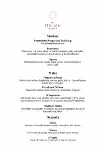 The Italian Kitchen Early Bird Menu
