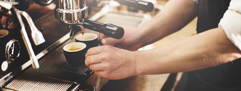 Barista making Italian espresso