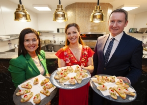 Bronagh McKee, Catherine Fulvio and Philip O' Neil at the Cookery Demonstration with Catherine Fulvio