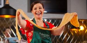 Catherine Fulvio Cooking Demo At The Italian Kitchen