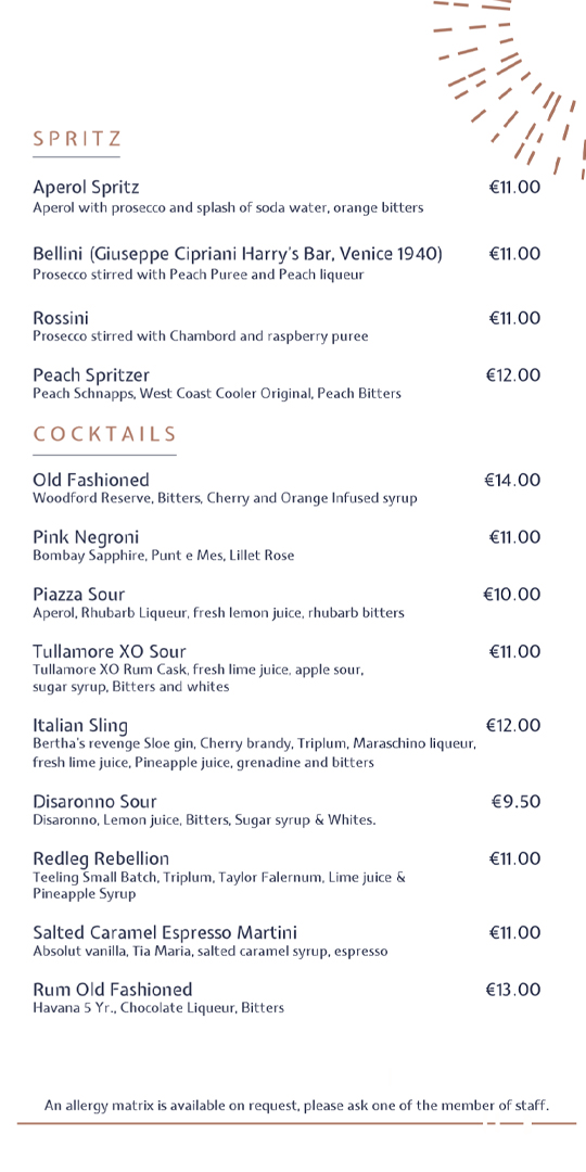 Drinks menu pg2