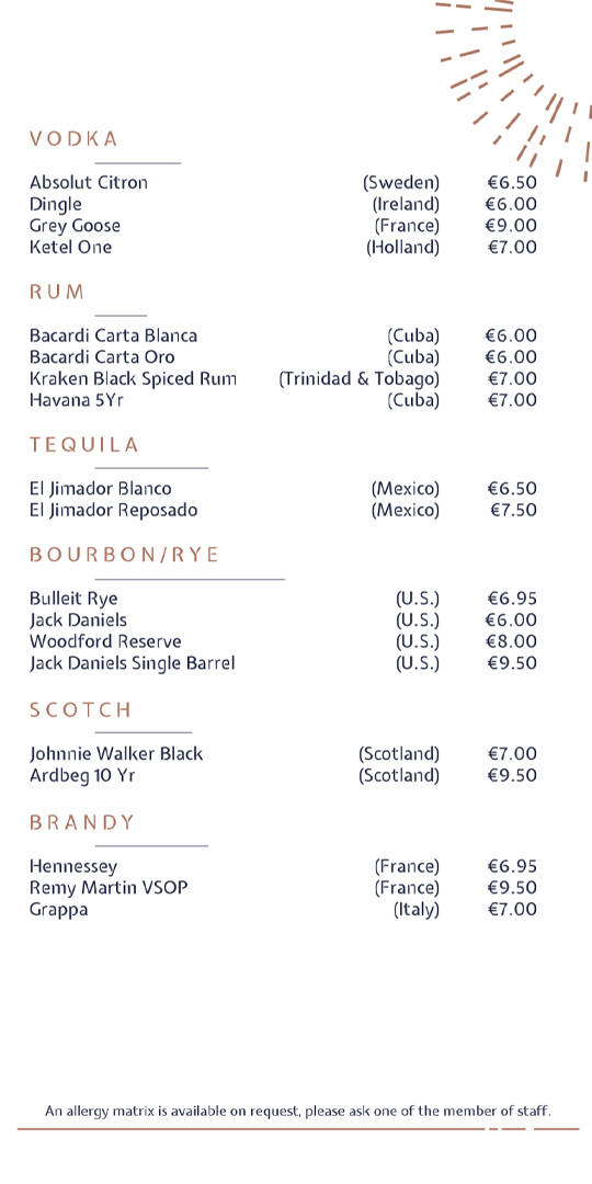 Drinks menu page 4