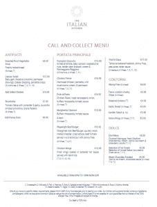 Call & Collect menu
